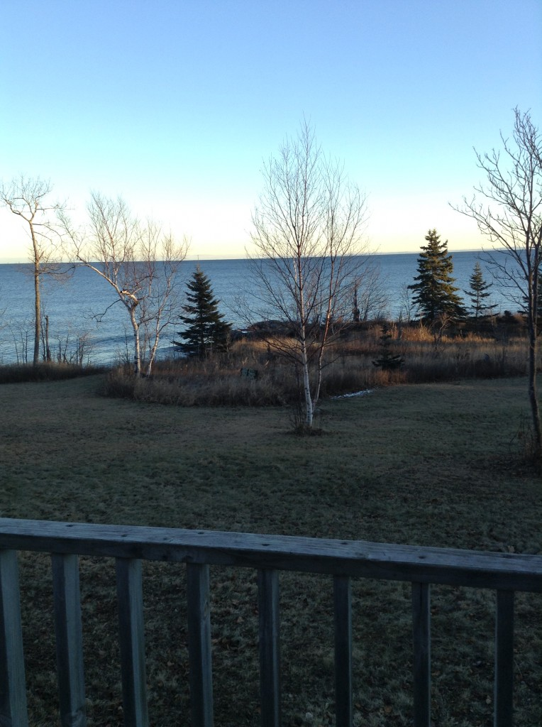 View from the deck of our cabin.