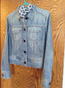 Denim jacket found in CA consignment store