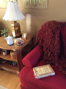 Cozy up with a cup of tea and a good book.